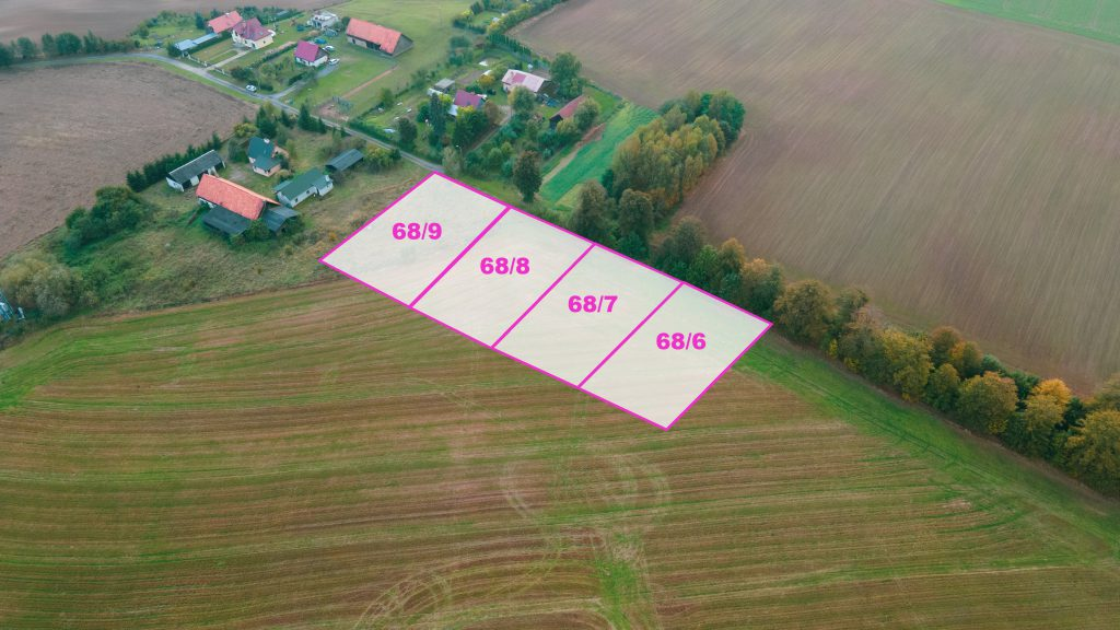 Działki budowlane z WZ pod Ostródą, w pobliżu trasy S7,